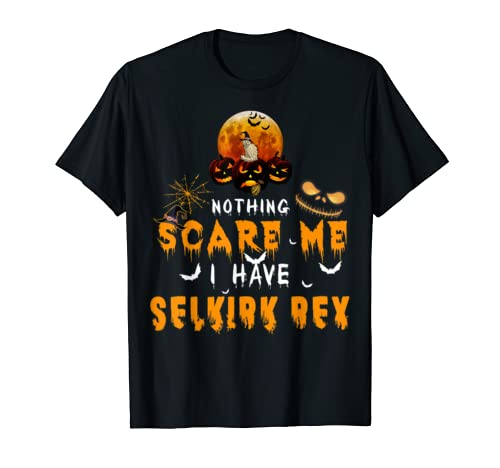 Nothing Scare Me I Have Selkirk Rex Cat Halloween Funny T Shirt