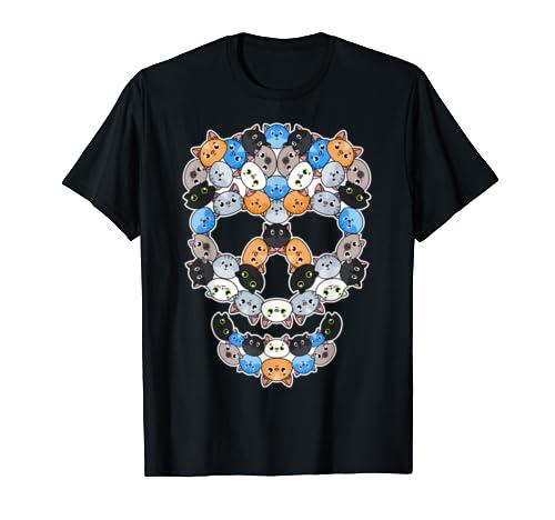 Cats Skull Cute Shirt Pet T-Shirt