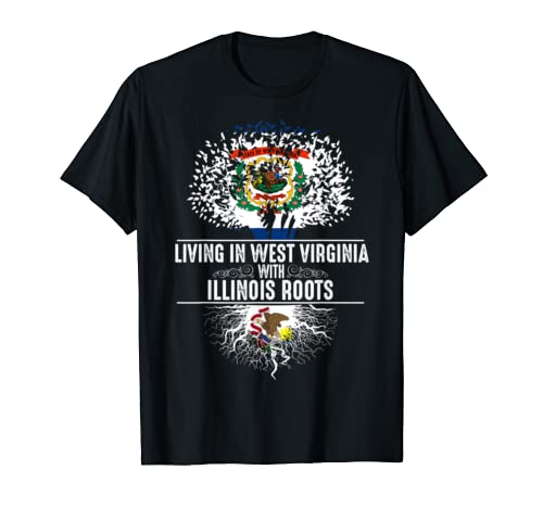 West Virginia Home Illinois Roots State Tree Flag Gift T Shirt