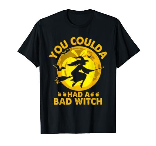 Halloween Had A Bad Witch Broom Apple Teacher Gift Idea T Shirt