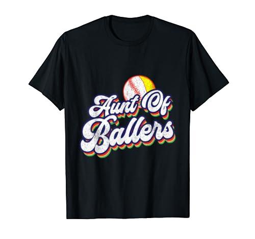 Aunt Of Ballers Baseball Softball Mother's Day T Shirt
