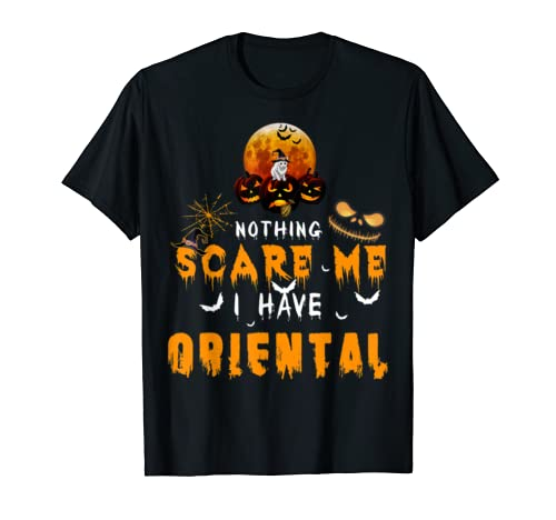 Nothing Scare Me I Have Oriental Halloween Funny T Shirt