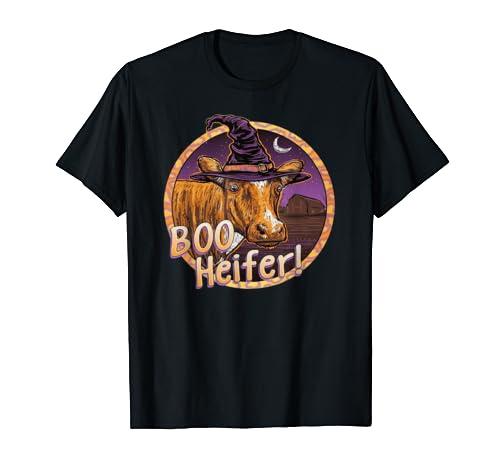 Boo Heifer Cow Witch Fashion Halloween For Men Women Kids T Shirt