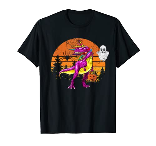 Dinosaur Unicorn T Rex Costume Funny Halloween Gift Men T Shirt