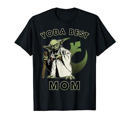 Star Wars Yoda Best Mom Rebel Logo T Shirt