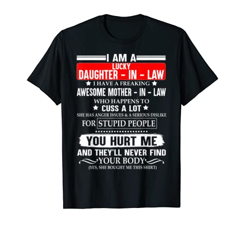 I Am A Lucky Daughter In Law Freaking Awesome Mother In Law T Shirt