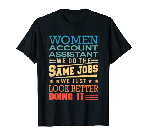 Funny Vintage Shirts Retro Account Assistant T Shirt