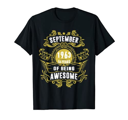 1963 Vintage Funny 56th Birthday Gift T Shirt