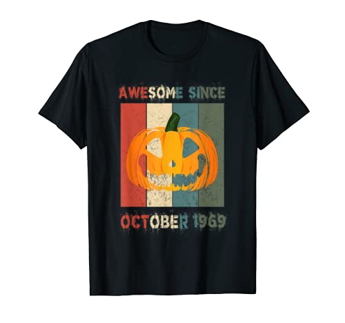 Awesome Since October 1969 Vintage Pumpkin 50th Birthday T Shirt