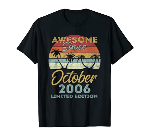 Awesome Since October 2006 Limited Edition Bday Gifts 13th T Shirt