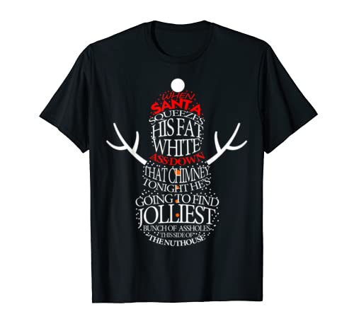 Xmas Gift Jolliest Bunch Of A Holes T Shirt