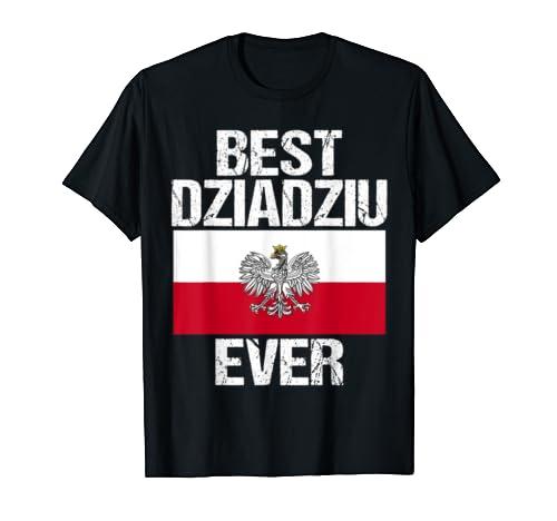 Mens Best Dziadziu Ever Polish Grandpa Gift For Men Poland Flag T Shirt