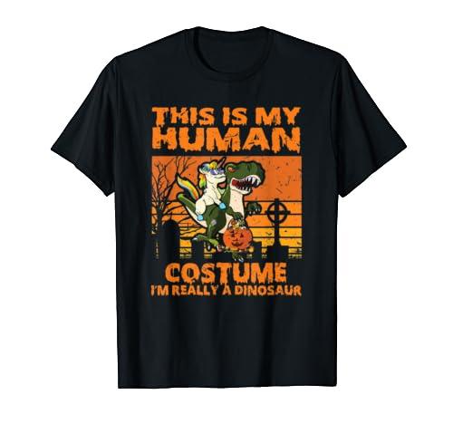 This Is My Human Costume Dinosaur Halloween Apparel Gift Men T Shirt