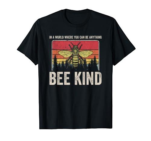 Bee Kind   Kindness Gift For Men Women Vintage Be Kind T Shirt