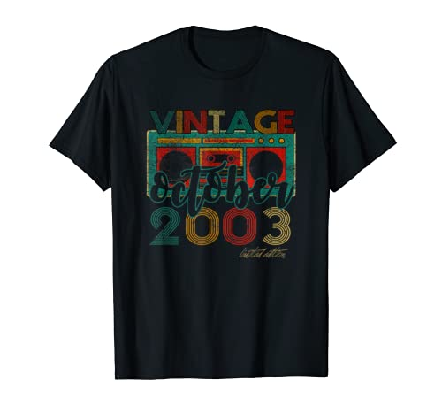 Vintage Cassette October 2003 Classic 16th Bday 16 Yrs T Shirt