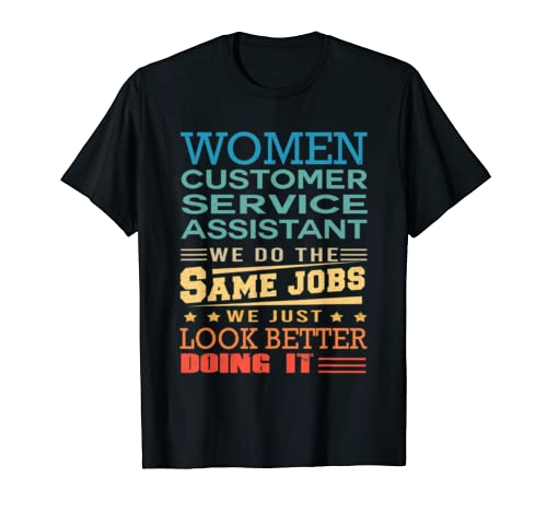 Funny Vintage Shirts Retro Customer Service Assistant T Shirt