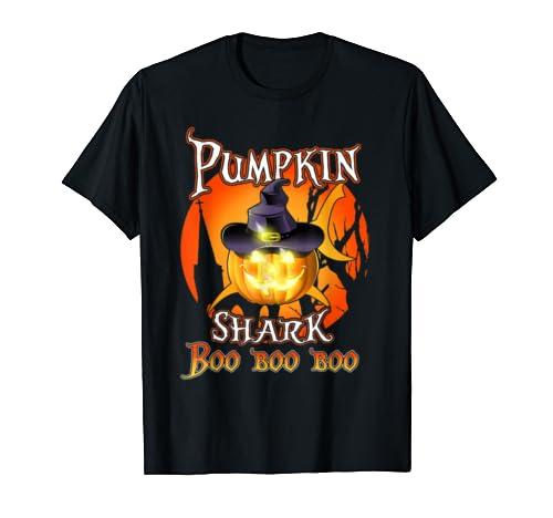 Pumpkin Shark Boo Boo Boo Funny Costume Halloween Gift T Shirt
