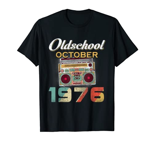 Made In October 1976 43rd Awesome Birthday T Shirt Gifts