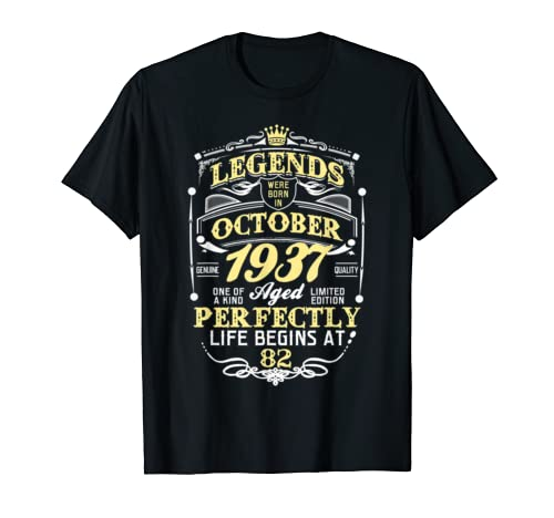 Legend Born October 1937 82nd Awesome Birthday Gift Shirt T Shirt
