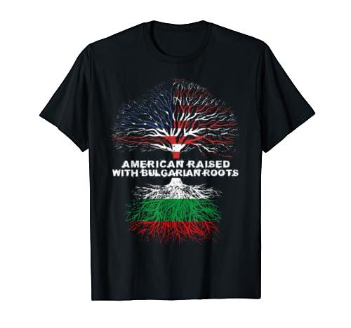 American Raised With Bulgarian Roots Bulgaria  T Shirt