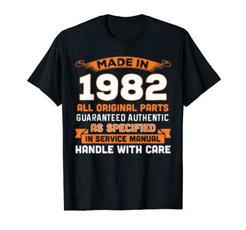 Made In 1982 Original Parts 37th Birthday Shirt