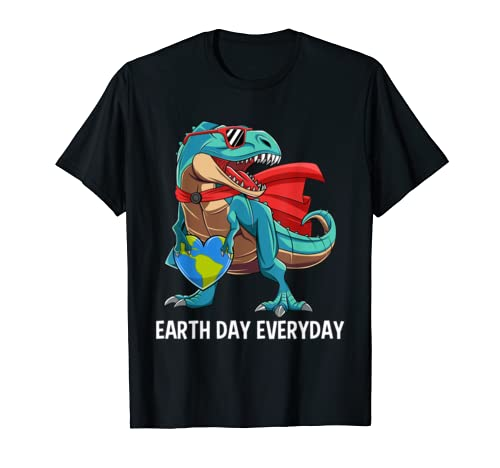 Earth Day Everyday Kids Boys Save Planet Dinosaur T Rex Gift T Shirt