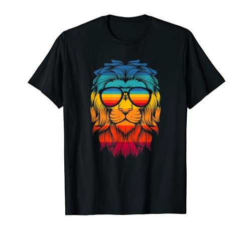 Boys Girls Lion Shirt With Colorful Head For Kids T Shirt