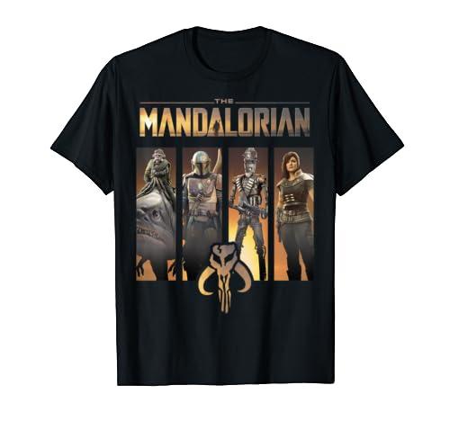 Star Wars The Mandalorian Group Line Up T Shirt