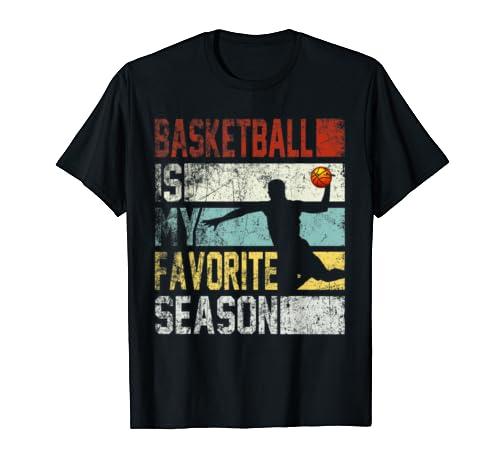 Retro Vintage Basketball Is My Favorite Season T Shirt