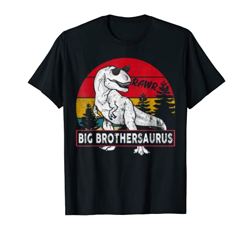 Vintage Big Brothersaurus Shirt Brother Saurus Dinosaur Gift T Shirt