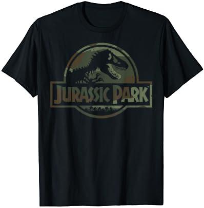 쥬라기 공원 카모 화석 로고 그래픽 티셔츠