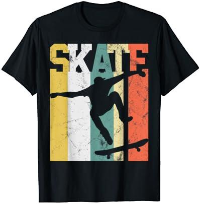 스케이트 스케이트 보더 선물 스케이트 보드 레트로 티셔츠