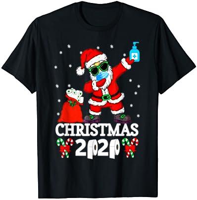 Merry Christ-Mask Santa Dab Christmas Quarantine Pajama Gift Sudadera