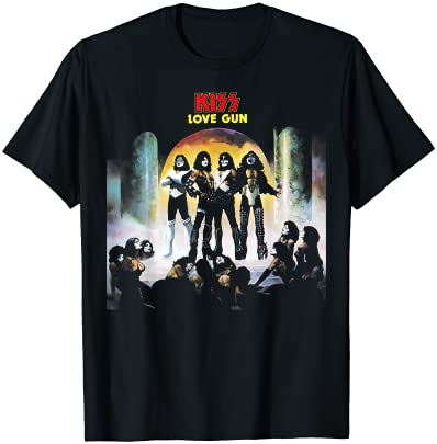 KISS - 1977년 러브건 T-셔트