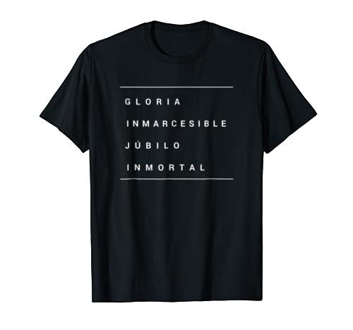 Amazon.com: Colombia gloria inmarcesible himno art dark shirt tee gift: Clothing
