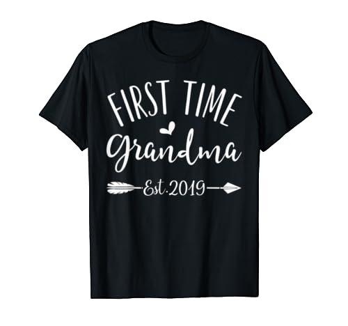 First Time Grandma est. 2019 New Grandma To Be T-Shirt
