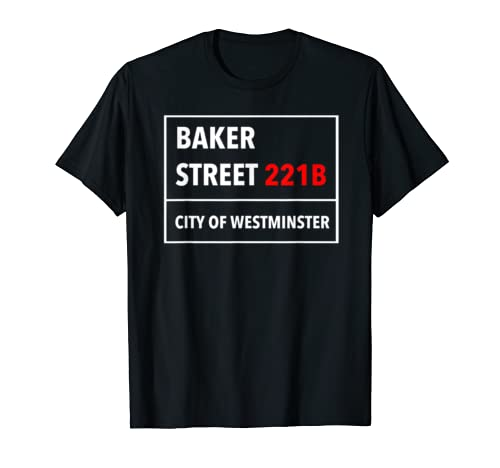 221B Baker Street T Shirt In The Style Of A Street Sign