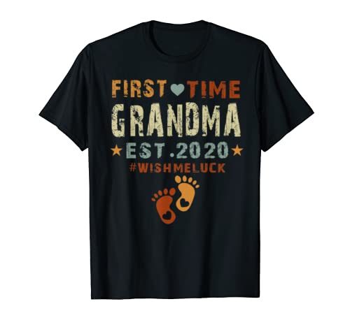 First Time Grandma Est 2020-Promoted to Grandma 2020  T-Shirt