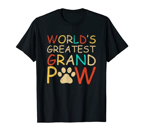 Grandpaw Shirt Worlds Greatest Grand Paw Funny Dogs Tee
