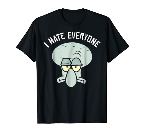 SpongeBob SquarePants Squidward I Hate Everyone T-Shirt