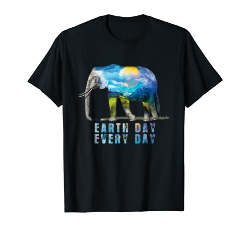 Elephant Earth Day Every Day T-Shirt Earth Day Gift Shirt