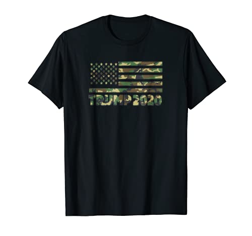 4th of July Trump 2020 Message Hidden In Camouflage USA Flag
