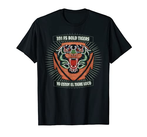 Air Force 391 F-15E Bold Tigers Legacy Patch T-shirt