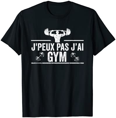 J'Peux Pas J'ai Gym Humour Cad…