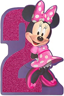 American Greetings 2nd Birthday Card for Girl (Minnie Mouse)