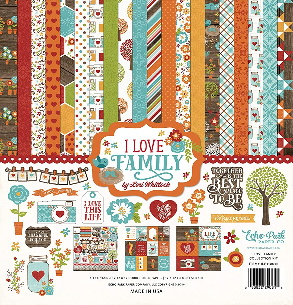 Echo Park Paper Company I I Love Family Collection Kit