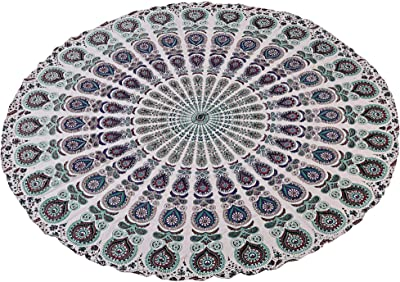 Amazon.com: Stylo Cultura Roundie Mandala Indio Throw Ojo de ...
