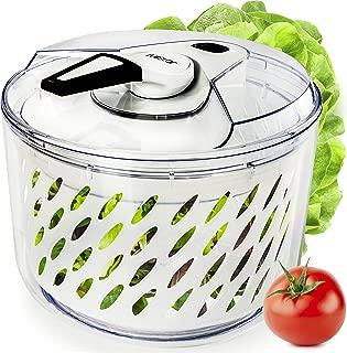 Large Salad Spinner Lettuce Dryer - Easy Spin Salad Spinner Large Vegetable Washer - Manual Salad spinner - Vegetable Dryer - Veggie Spinner Dry Salad Spinner By Fullstar