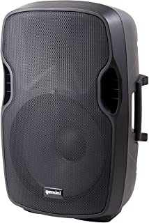 Gemini, 2 Professional Audio Bluetooth 8-inch Portable Active PA Loudspeaker with High/Low Equalization and Gain Control, ...