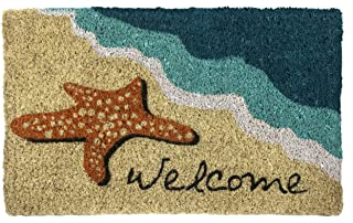 Entryways Starfish Welcome Hand Made Coir Doormat 18
